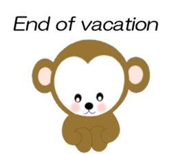 2016 Happy New Year Monkeys [English] sticker #8902522