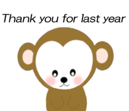 2016 Happy New Year Monkeys [English] sticker #8902524