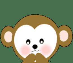 2016 Happy New Year Monkeys [English] sticker #8902527