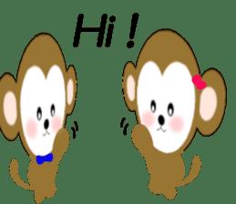 2016 Happy New Year Monkeys [English] sticker #8902532