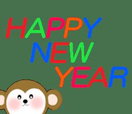 2016 Happy New Year Monkeys [English] sticker #8902533
