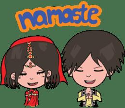 Chiku and Piku toon sticker #8910417