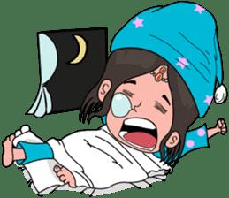 Chiku and Piku toon sticker #8910420