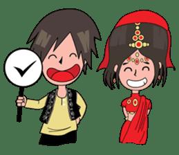 Chiku and Piku toon sticker #8910454