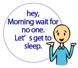Let's go to sleep for you and me/english sticker #8913033