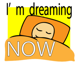 Let's go to sleep for you and me/english sticker #8913040