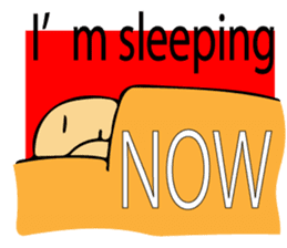 Let's go to sleep for you and me/english sticker #8913041