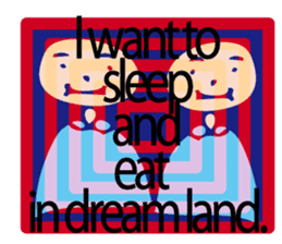Let's go to sleep for you and me/english sticker #8913045
