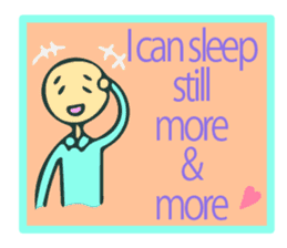 Let's go to sleep for you and me/english sticker #8913049
