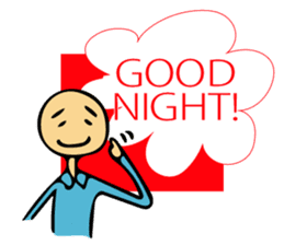 Let's go to sleep for you and me/english sticker #8913053