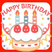 สติ๊กเกอร์ไลน์ Happybirthday&congratulations Animation