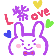 purple love rabbit