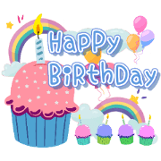 สติ๊กเกอร์ไลน์ Happy Birthday With Best Wishes Sticker