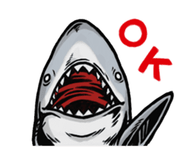 Fascinating shark (English) sticker #8935304