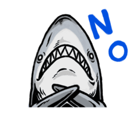 Fascinating shark (English) sticker #8935305