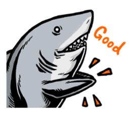 Fascinating shark (English) sticker #8935309