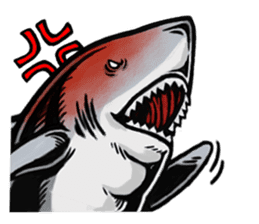 Fascinating shark (English) sticker #8935310