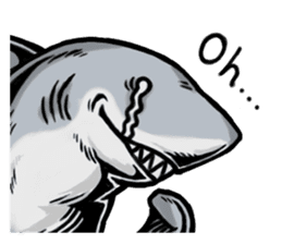 Fascinating shark (English) sticker #8935311