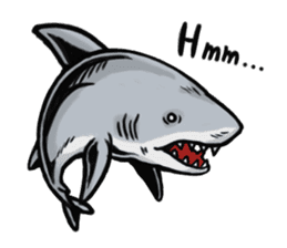Fascinating shark (English) sticker #8935312