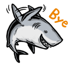 Fascinating shark (English) sticker #8935313