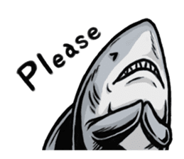 Fascinating shark (English) sticker #8935317