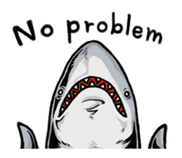 Fascinating shark (English) sticker #8935320