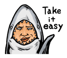 Fascinating shark (English) sticker #8935321