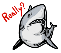 Fascinating shark (English) sticker #8935322