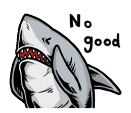 Fascinating shark (English) sticker #8935327