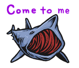 Fascinating shark (English) sticker #8935331