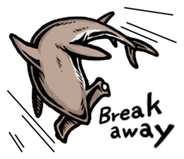 Fascinating shark (English) sticker #8935332
