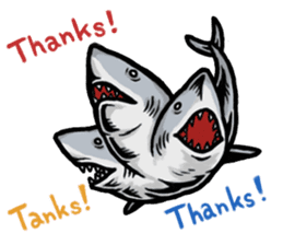 Fascinating shark (English) sticker #8935341