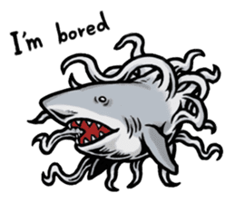 Fascinating shark (English) sticker #8935342