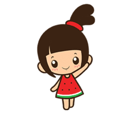 Manka the Happy Little Girl sticker #8946184