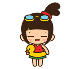 Manka the Happy Little Girl sticker #8946190