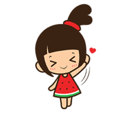 Manka the Happy Little Girl sticker #8946194