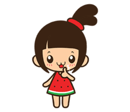 Manka the Happy Little Girl sticker #8946198