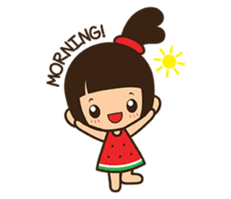 Manka the Happy Little Girl sticker #8946202