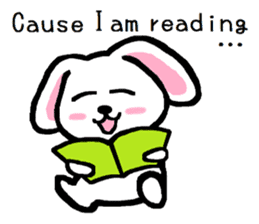 TAREMMY of lop-eared rabbit Excuses!! sticker #8949187