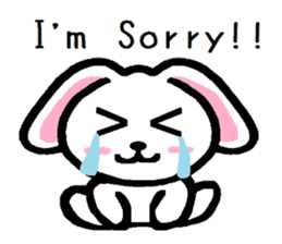 TAREMMY of lop-eared rabbit Excuses!! sticker #8949221