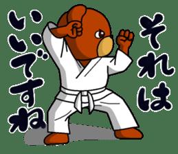 A little Karate fighter,Bear's Akkun sticker #8952429