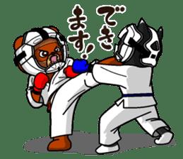 A little Karate fighter,Bear's Akkun sticker #8952440