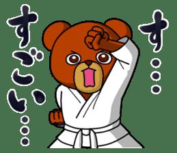 A little Karate fighter,Bear's Akkun sticker #8952456