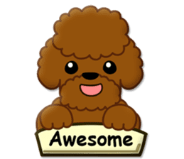 I Love Toy Poodle sticker #8956779