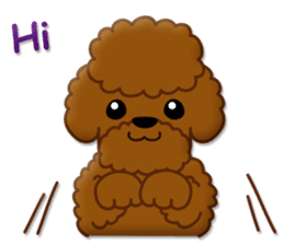 I Love Toy Poodle sticker #8956780