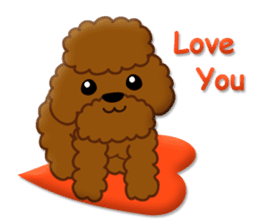I Love Toy Poodle sticker #8956783