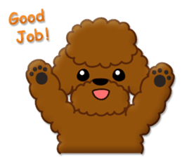 I Love Toy Poodle sticker #8956786