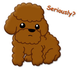 I Love Toy Poodle sticker #8956795