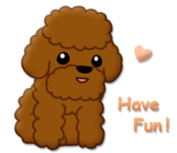 I Love Toy Poodle sticker #8956797