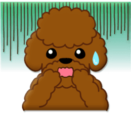 I Love Toy Poodle sticker #8956801